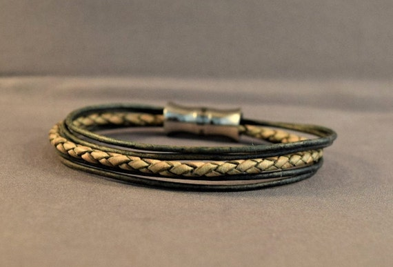 Leather Bracelet-Men Braided Bracelet-Mens Bracelet-Womens Braided Bracelet-Brown Bracelet-Women Wrist Bracelet-Friendship Gift