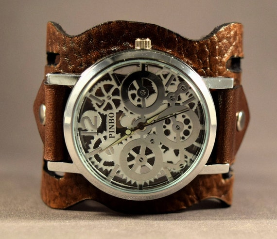 Watches-Brown Watch-Women Watches-Women Watches Leather-Cuff Watch Women-Gift For Her-Gifts-Bracelet Watch For Women-Ladies Watches-Watch-