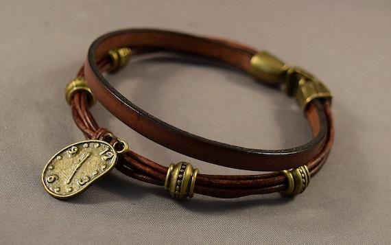 Leather Bracelet-Charm Bracelet-Bohemian Bracelet-Women Bracelet-Gifts-Friendship Bracelet-Friendship Gifts-Brown Bracelet-Gift For Her