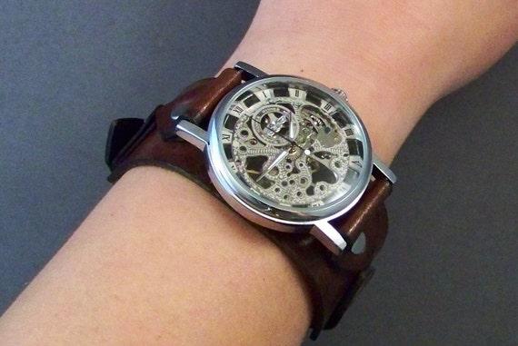 Steampunk watch for men and women-Vintage Watch-Boyfriend Christmas Gift