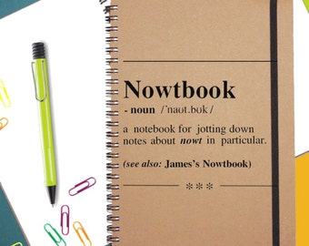 Personalised Notebook|A5|Spiral bound|Recycled Notebook|Personalised Gift|Funny Gift|Notepad|Secret Santa|Stocking Filler