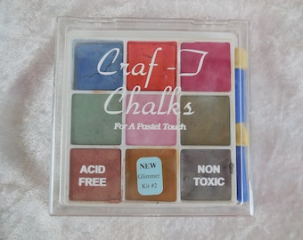 Decorating Chalk, Pastel Decorating Chalks, Craf-T Glimmer Kit #2