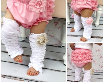 Valentine's Day Baby Girl Pink Lace Bloomers, Diaper Cover, Ruffle Bottoms / Butt. Baby's 1st Birthday Outfit Cake Smash. Coming Home Outfit