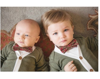 63ee5f1e4 NEW Baby Boy Cardigan and Bow Tie Set. Trendy Baby Boy | Etsy