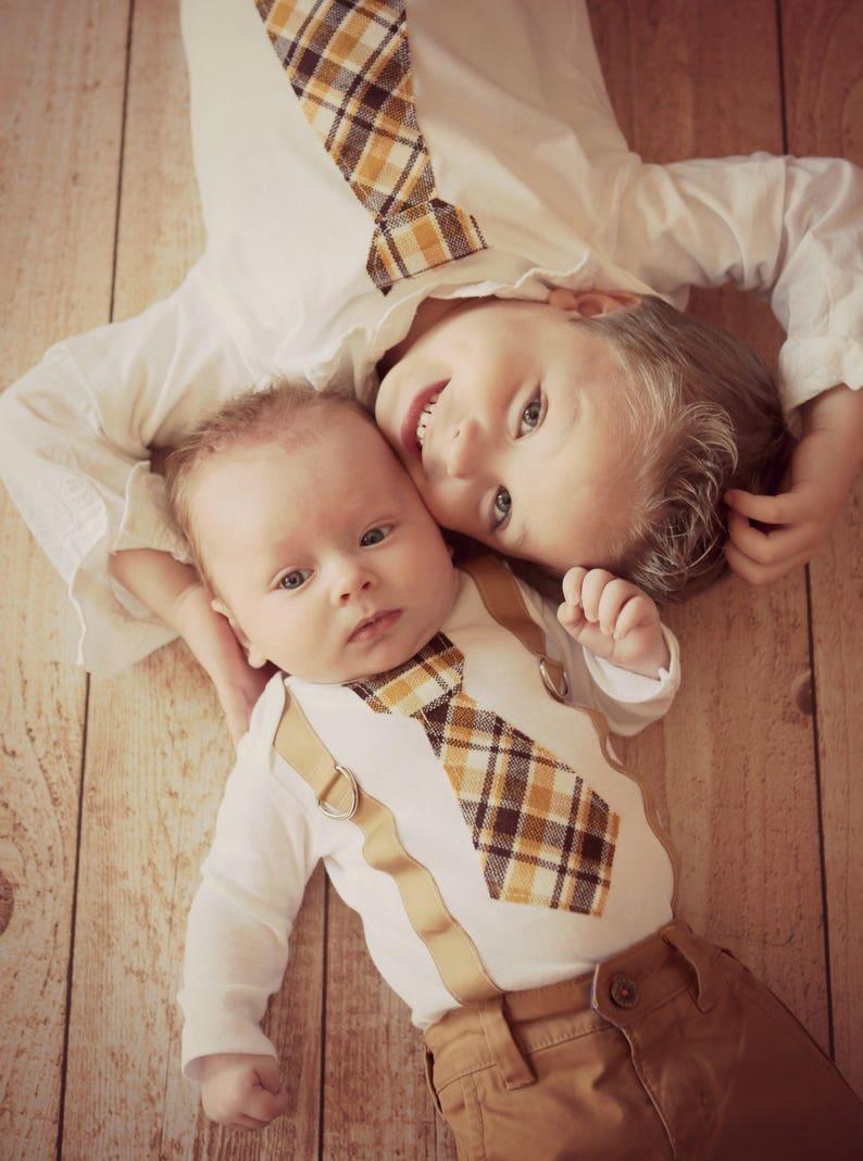 dd2d60053 Baby Boy Tie   Suspenders Bodysuit. 1st Birthday Outfit.