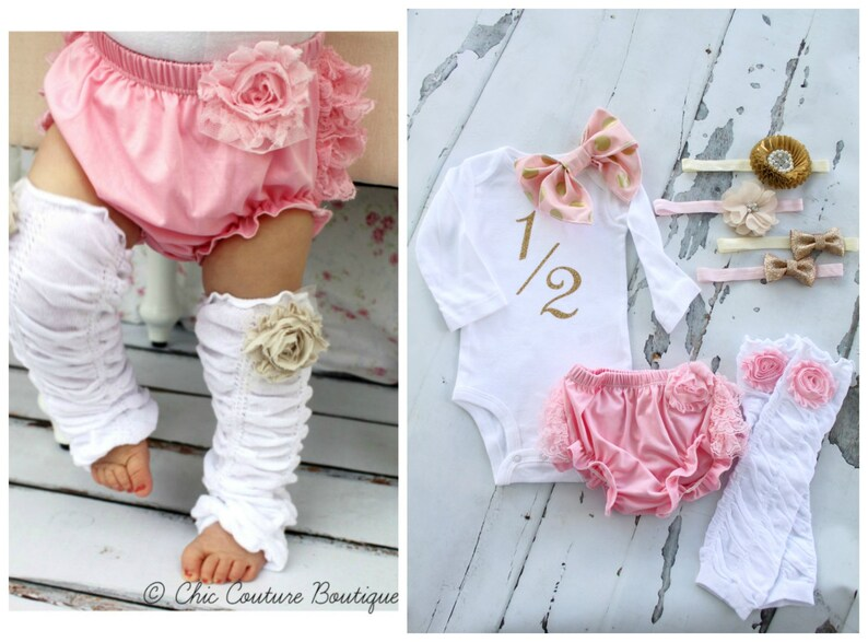 8b51d134c8f Baby Girl 1 2 Half Birthday Outfit. Cake Smash Set up to 4