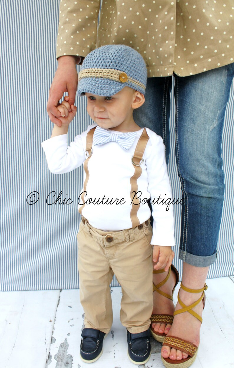 322072305 Easter Spring Baby Boy Bow Tie and Suspender Bodysuit. Plaid, 1st First  Birthday Outfit Tan Suspenders Cake Smash, Valentine's Day