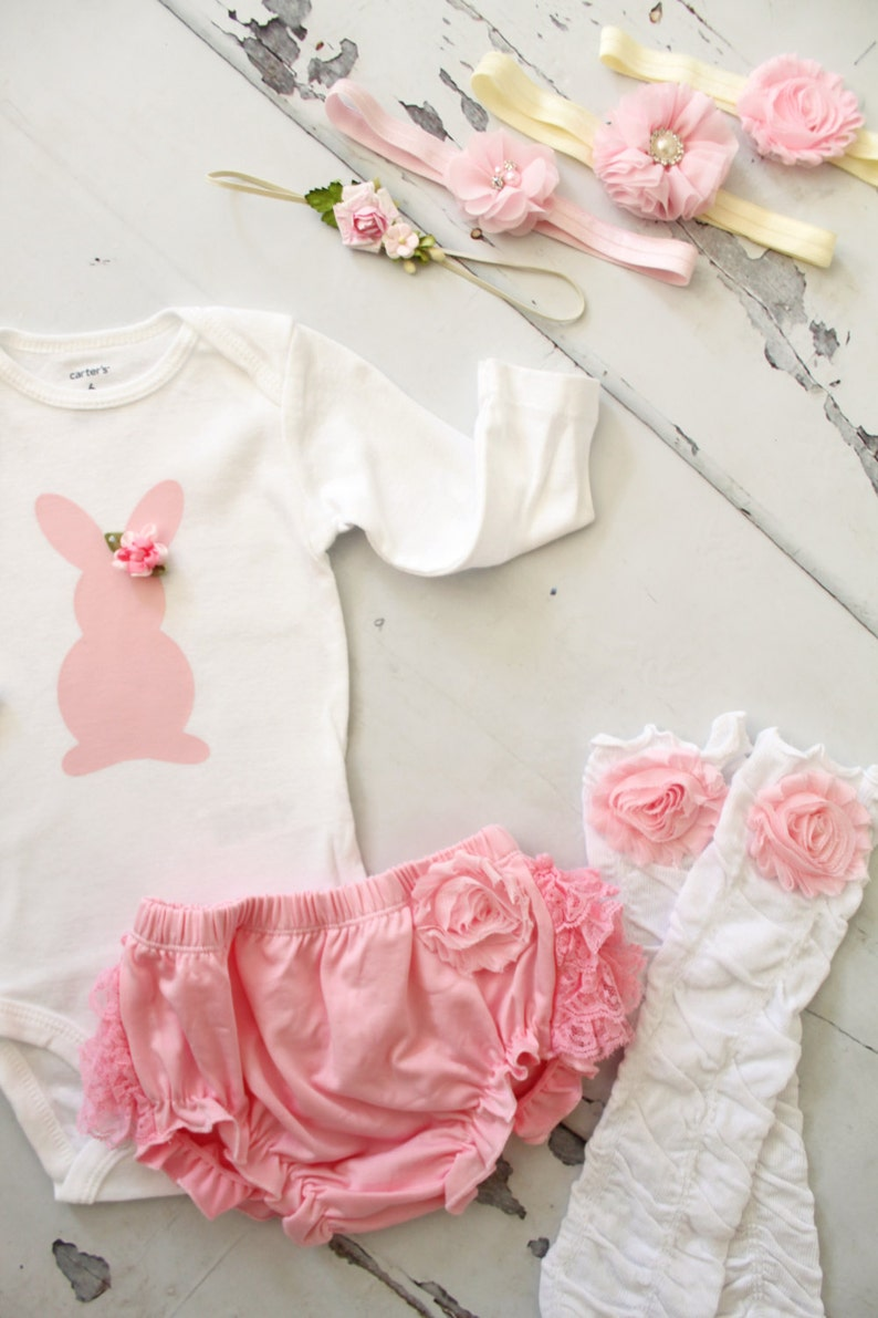 Leg Warmers Diaper Cover Headband Boy Bunny Bow Tie w Suspenders  Pants Twins Baby Boy /& Baby Girl Easter Sets Girl Bunny Rose Bodysuits