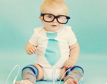 Back to School Baby Boy Tie Bodysuit. Aqua, Teal, Blue, Plaid, Argyle. Children Clothing. Coming Home Outfit. Holiday, Christmas Outfit