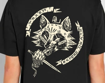 Raccoon Eat Trash Before Death - cool tee shirt gift for motorcycle animals awesome punk goth trash panda possum angst