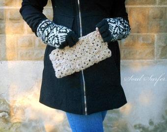 Granny Square Crochet Clutch