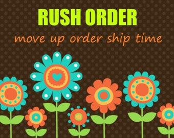 Rush Order -- Processing Upgrade and Shipping Upgrade Options