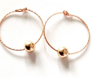 Rose Gold earrings, Rose Gold Hoops, small hoops earrings,Rose Gold Jewelry, Mimimalist earrings, modern earrings, Black Friday gifts