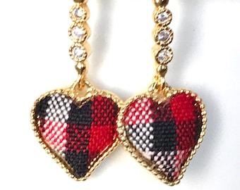 Valentines Dangle Earrings, Heart Earrings, Heart pendant earrings, Gift for her, gift for mom, Valentines Day jewelry gift