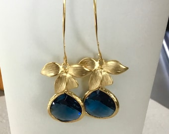 Dangle Earrings, Statement earrings, Bridesmaid gift, birthstone, personalized Gift for her earrings, blue earrings Jewellery