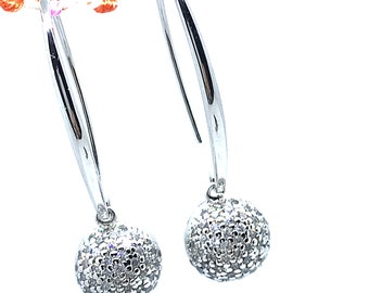 Unique mom Gifts, Statement Sterling Silver Earrings, luxury earrings,dangle earrings, long earrings, Mothers Day Gift For Her, Gift for Mum