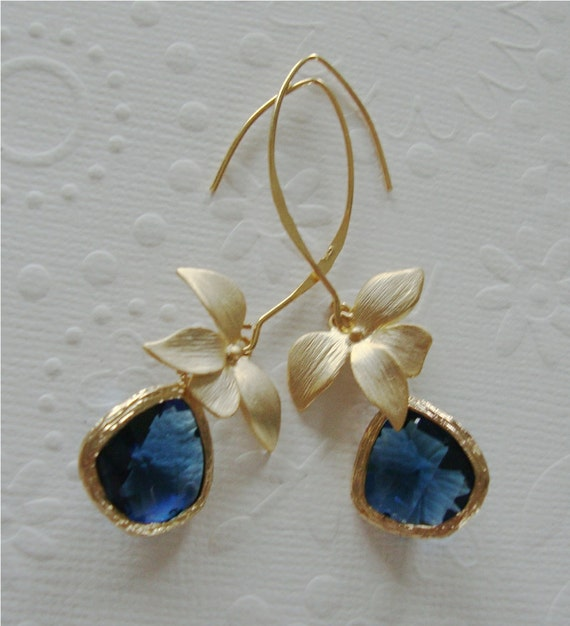 Orchid Trellis New Diamontrigue Jewelry: Statement Dangle Earrings Orchid Jewelry Sapphire Earrings