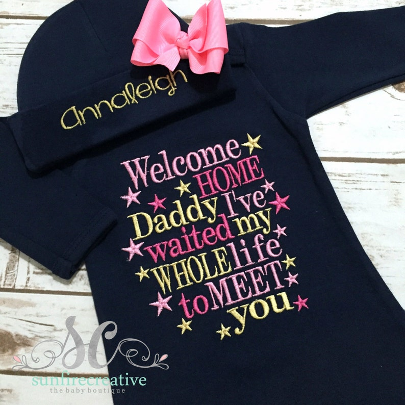 67c5c547e Welcome Home Daddy Newborn Outfit Newborn Girl Baby Boy | Etsy