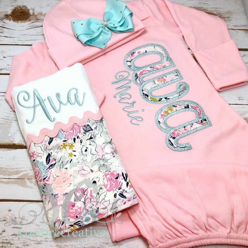 36d81a36ff71 Girl Coming Home Outfit Baby Girl Gown Baby Girl Bring