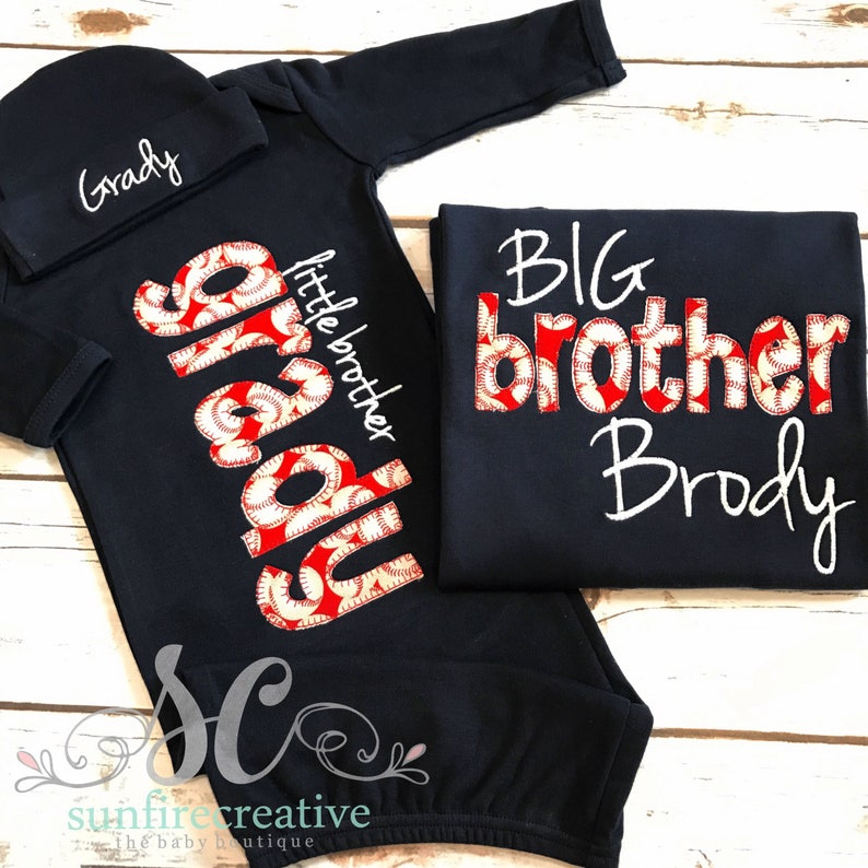 9b74b0cab Big Brother Little Brother Outfits / Baseball Baby / | Etsy