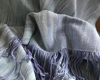 Handwoven and Hand Dyed Shawl