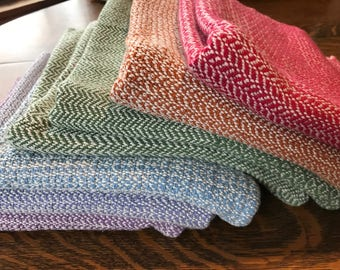 Handwoven Dish Towels in Blue