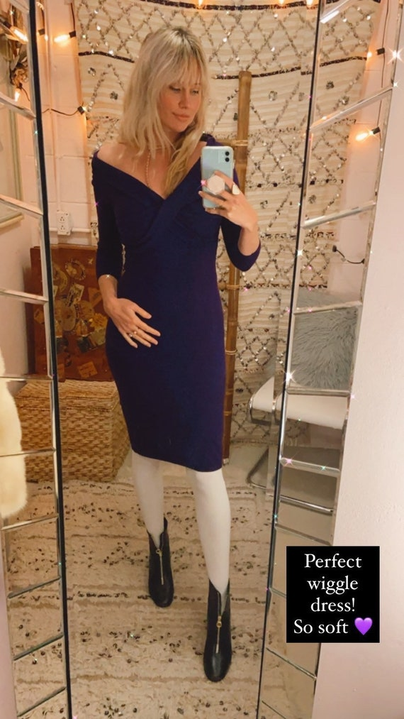 Ralph Lauren Purple Cashmere Sweater Dress