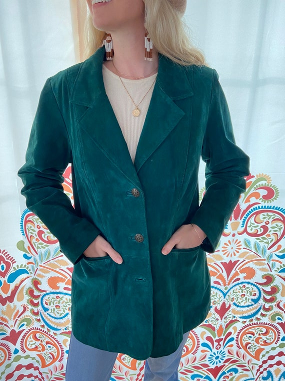 1990s Green Leather Jacket