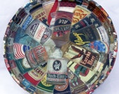 Vintage Beer Cans Decoupaged Tray