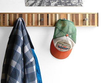 Coat Rack, Reclaimed Wood, Entryway Organizer, Rustic Home Decor, Dog Leash Holder, Coat Organizer, Coat Hook