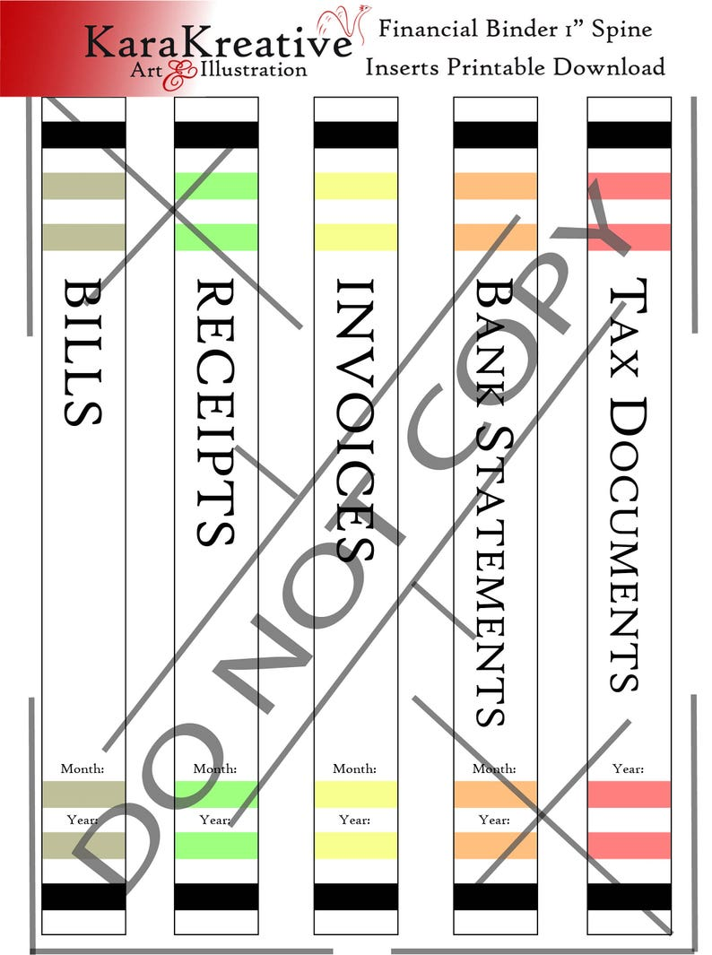 photograph relating to Printable Binder Spine Inserts named Money 1 Inch Binder Backbone Inserts Printable Obtain
