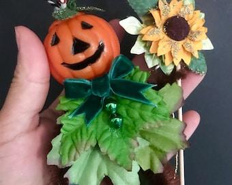 Pumpkin Bump Chenille Ornaments