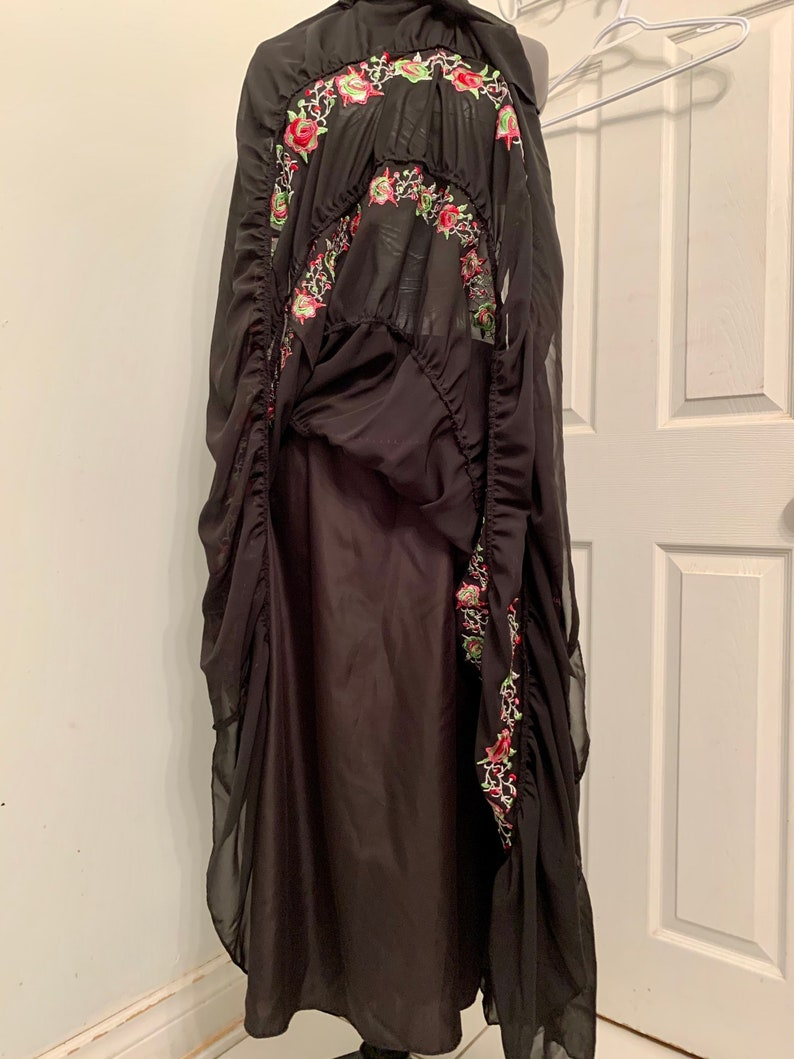 Mexican Fiesta Style Bianca Nygard Embroidered Tired Peasant Skirt Size 14