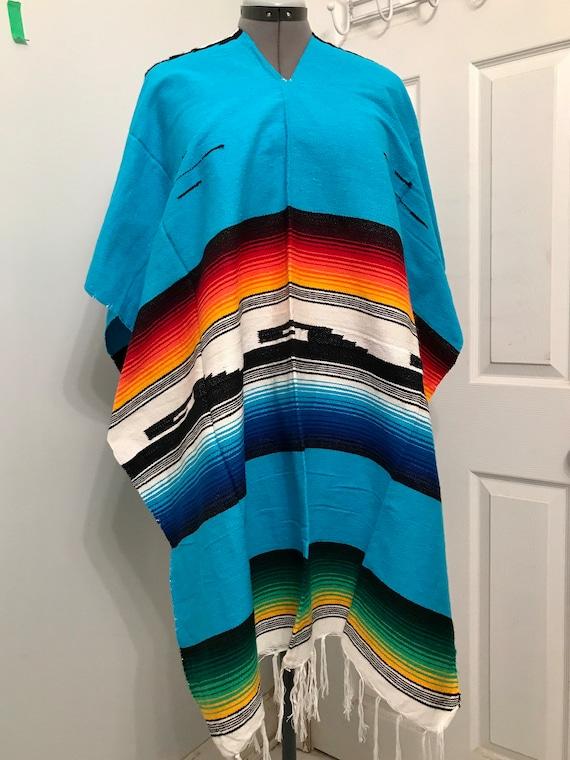 Vintage Woven Textiles Southwest Poncho Serape