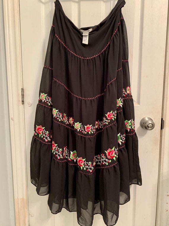 Mexican Fiesta Style Bianca Nygard Embroidered Tir