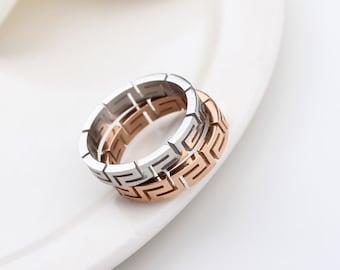 Greek Wedding Ring Etsy