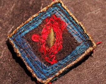mini silk brooch