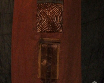 chocolate brown linen apron