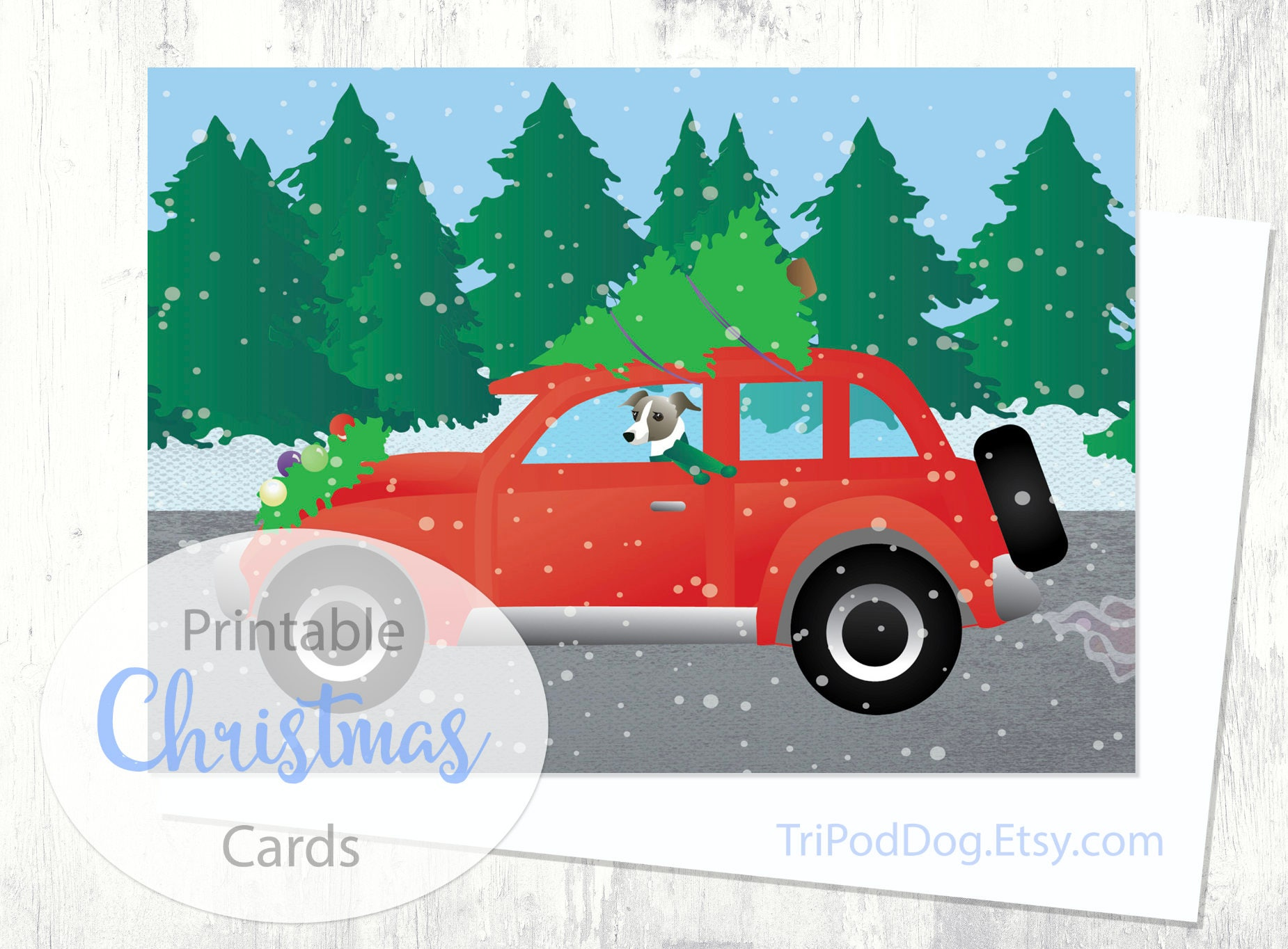 Italian Greyhound Dog Christmas Cards From The Breed Etsy