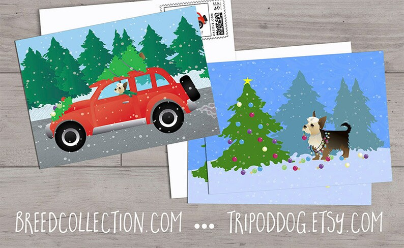 Yorkie Christmas Clip Art Collection Breed Collection by ...