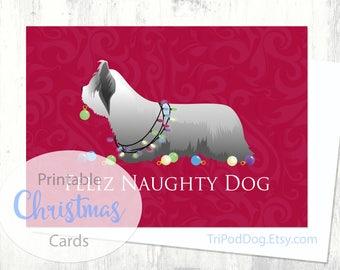 Skye Terrier Christmas Card - Digital Download Printable