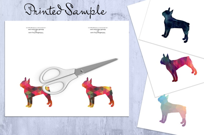 Boxer Dog Silhouette Note Card Collection - Digital Download Printable