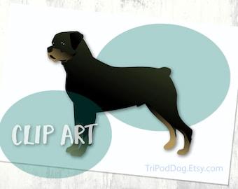 Rottweiler Basic Breed Silhouette Clip Art