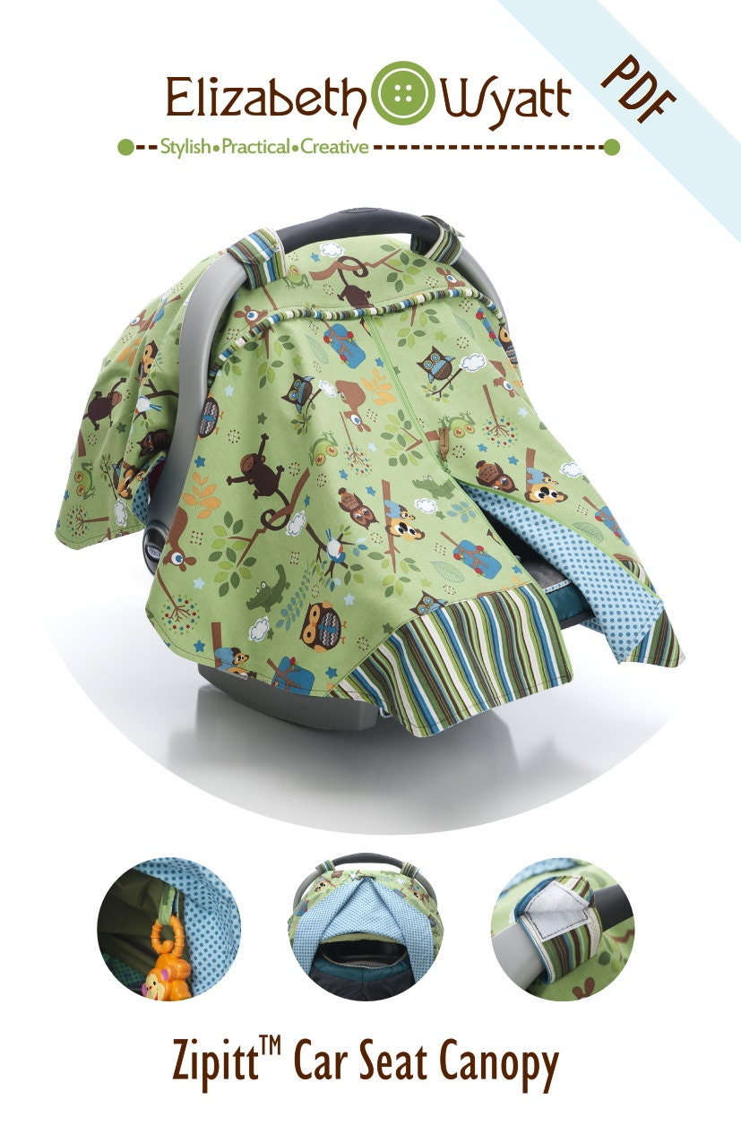Zipitt Car Seat Canopy Sewing Pattern Fits All Baby Car Etsy