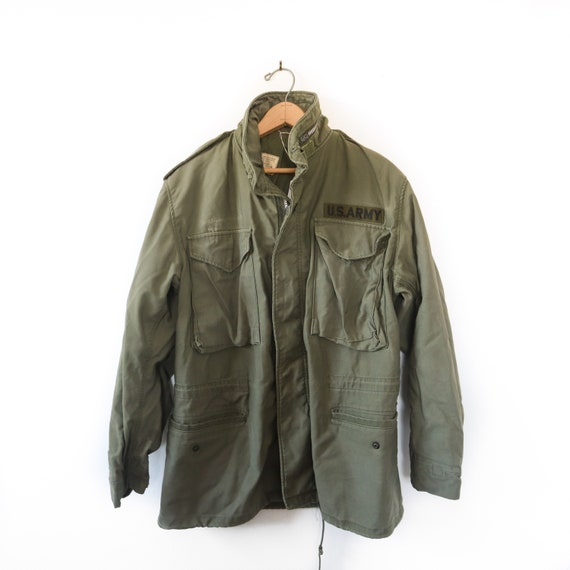 SML | M65 Olive Green Field Jacket 1980's Army Mil