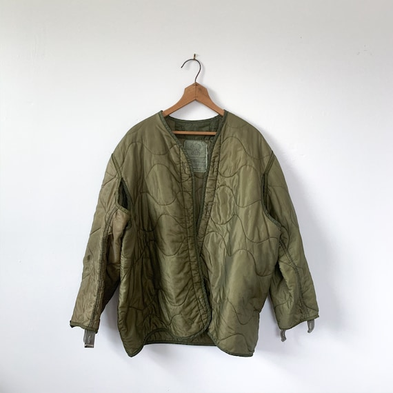 MED | M-65 Liner Quilted Military Green Liner Coat