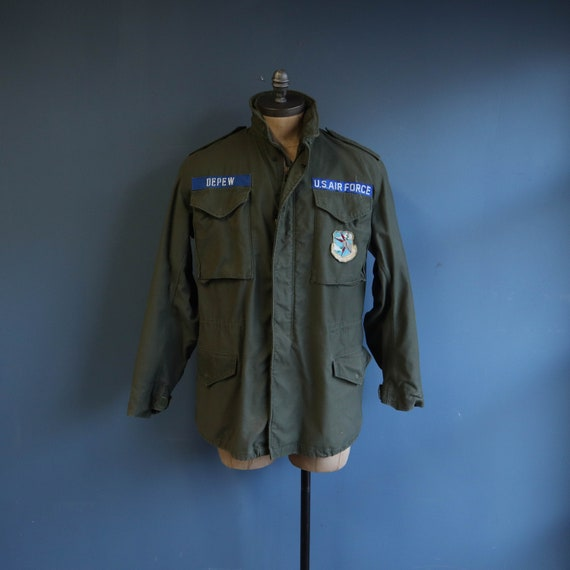 "Vintage M65 Field Jacket Named ""DEPEW"" US Air Forc"