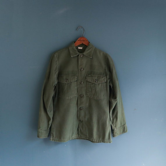 Vintage Military Cotton OG-107 Fatigues Button Dow
