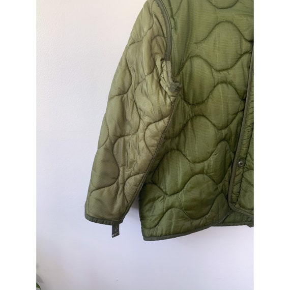 LRG   M-65 Liner Quilted Military Green Liner Coat - image 5