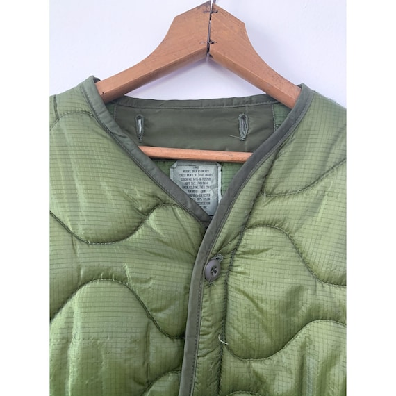 LRG   M-65 Liner Quilted Military Green Liner Coat - image 2